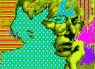 Grafika komputera przedstawiająca wizerunek Andy'ego Warhola