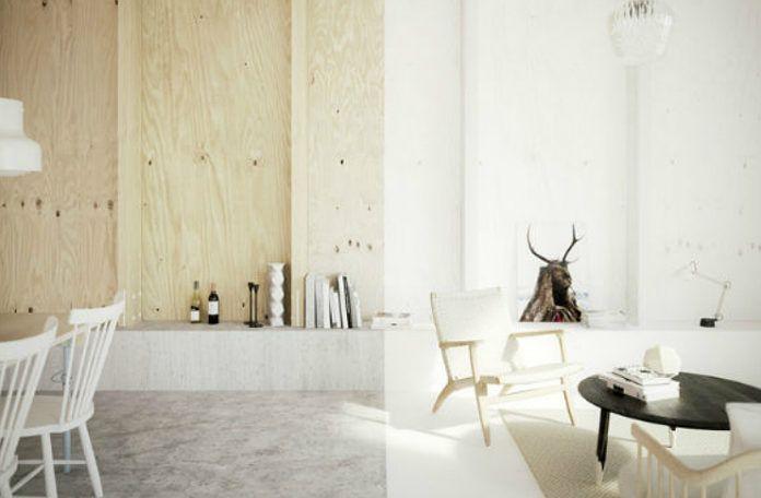 Dwa minimalistyczne wnętrza