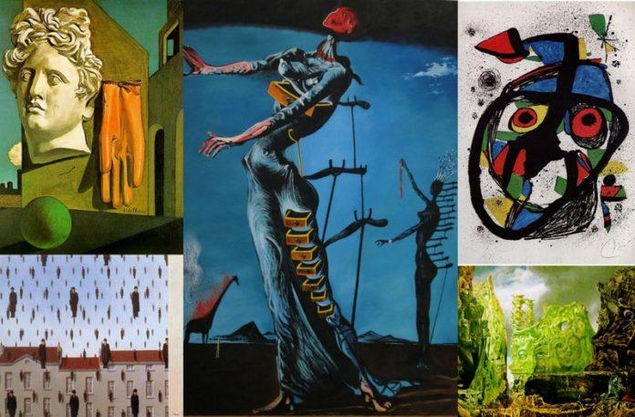 Pięc obrazów autorstwa surrealistów
