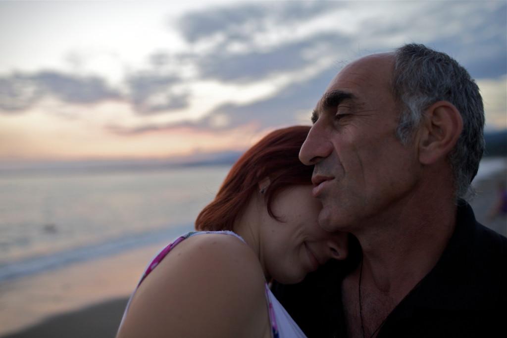 efekt domina para na plaży HIRO