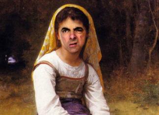 Klasyczny obraz z wklejoną twarzą Jasia Fasoli