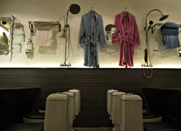 http://merwelmar.tumblr.com/post/56918886555/wall-hangings-in-the-modern-toilet-restaurant