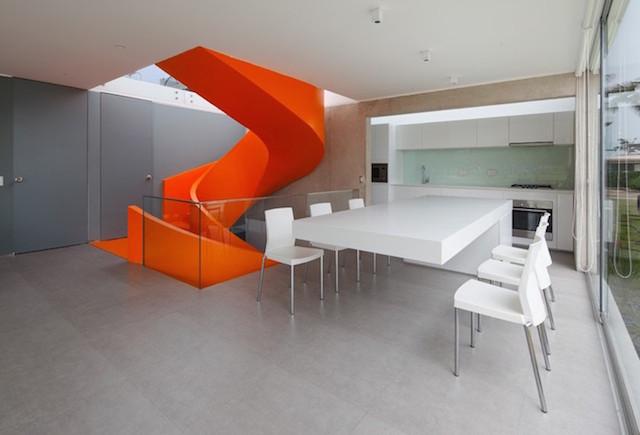 Flashy-Orange-Staircase-in-Modern-Home-7