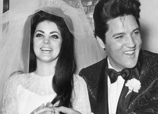 Kobieta ubrana w suknię ślubną i mężczyzna w garniturze ślubnym