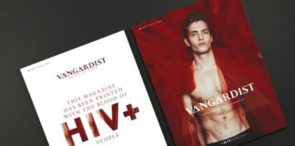 Okładka magazynu, do druku którego użyto krwii osób z HIV