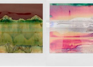 Zdjęcia dwóch zepsutych zdjęć z polaroida