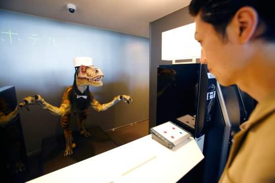 dinosaur-robot-receptionist
