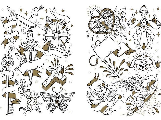 The Tattoo Colouring Book by Megamunden 2'