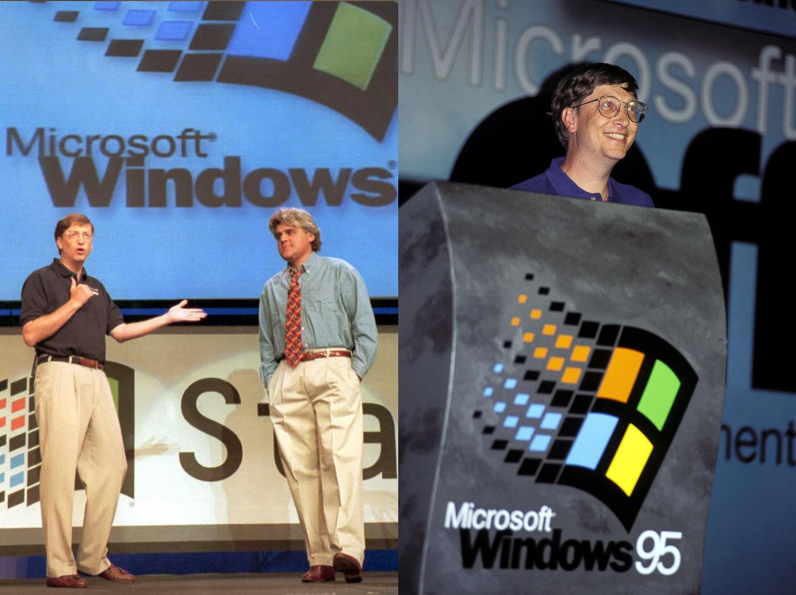 Microsoft Chairman William H. Gates, (L)