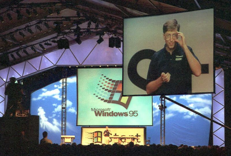 An image of Microsoft Chairman William H. Gates is