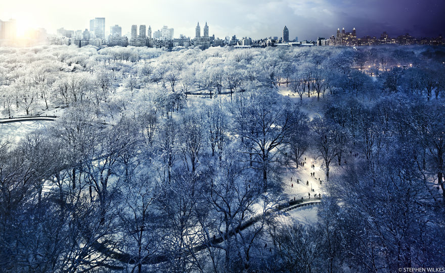 Central Park zimą, Nowy Jork