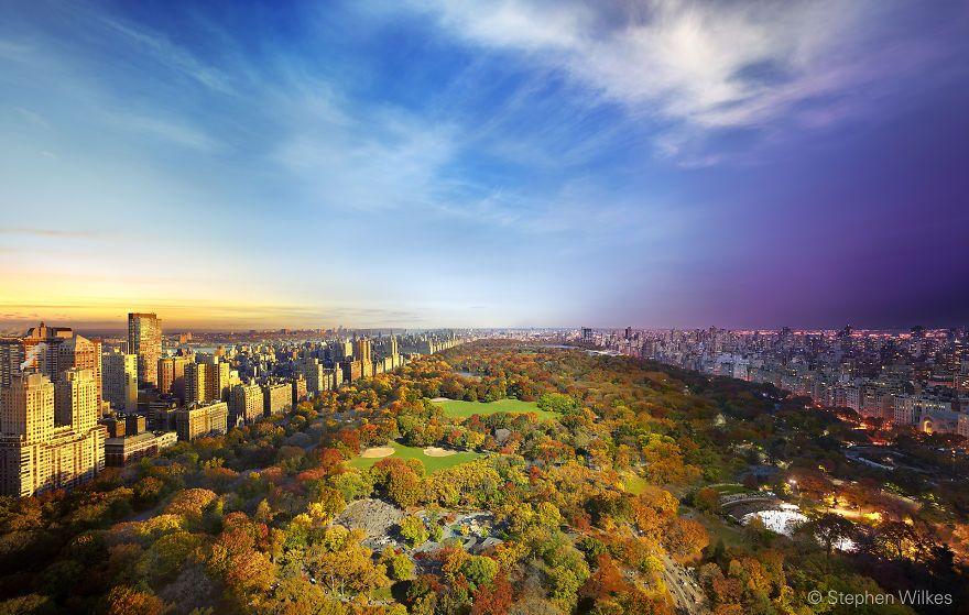 Widok na Central Park z Essex House, Nowy-Jork