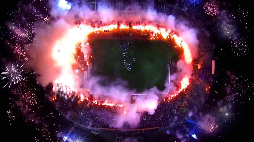 Stadion podczas meczu dron najlepsze zdjęcia z dronów Magazyn HIRO