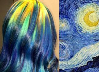Włosy ufarbowane na kolorystykę znanego obrazu