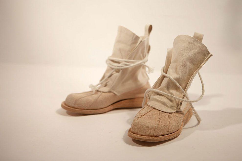 beżowe materiałowe buty