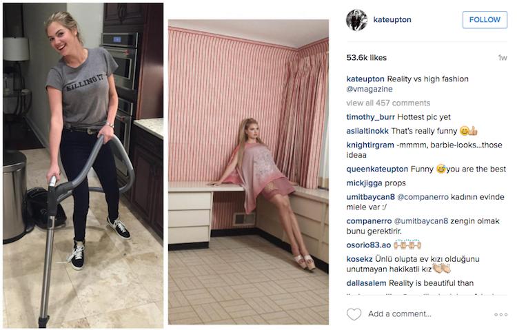 Skrinshot postu Kate na Instagramie