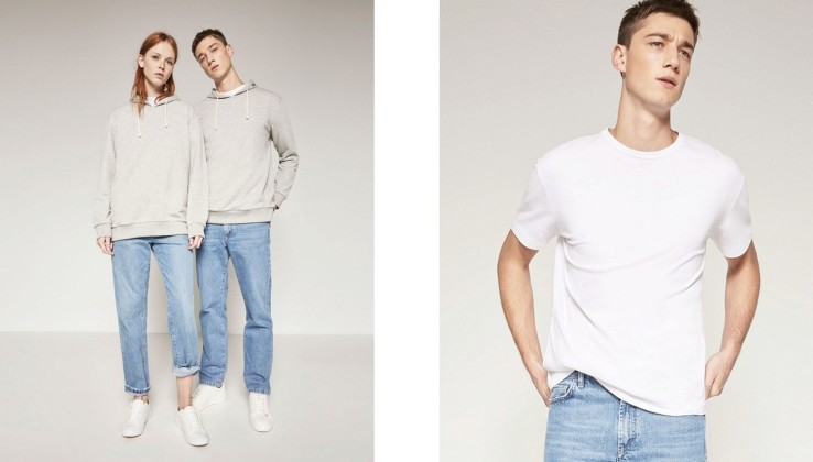 bluza dresowa i biały t-shirt
