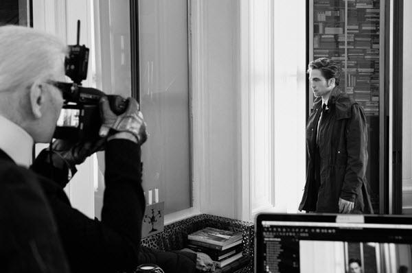 karl lagerfeld fotografuje roberta pattinsona dla Diora HIRO