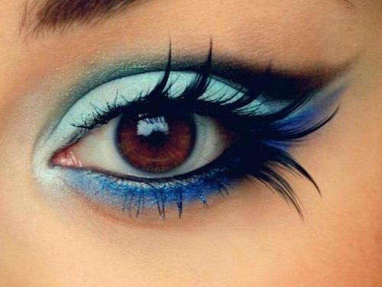 niebieski makijaż trendy tumblr