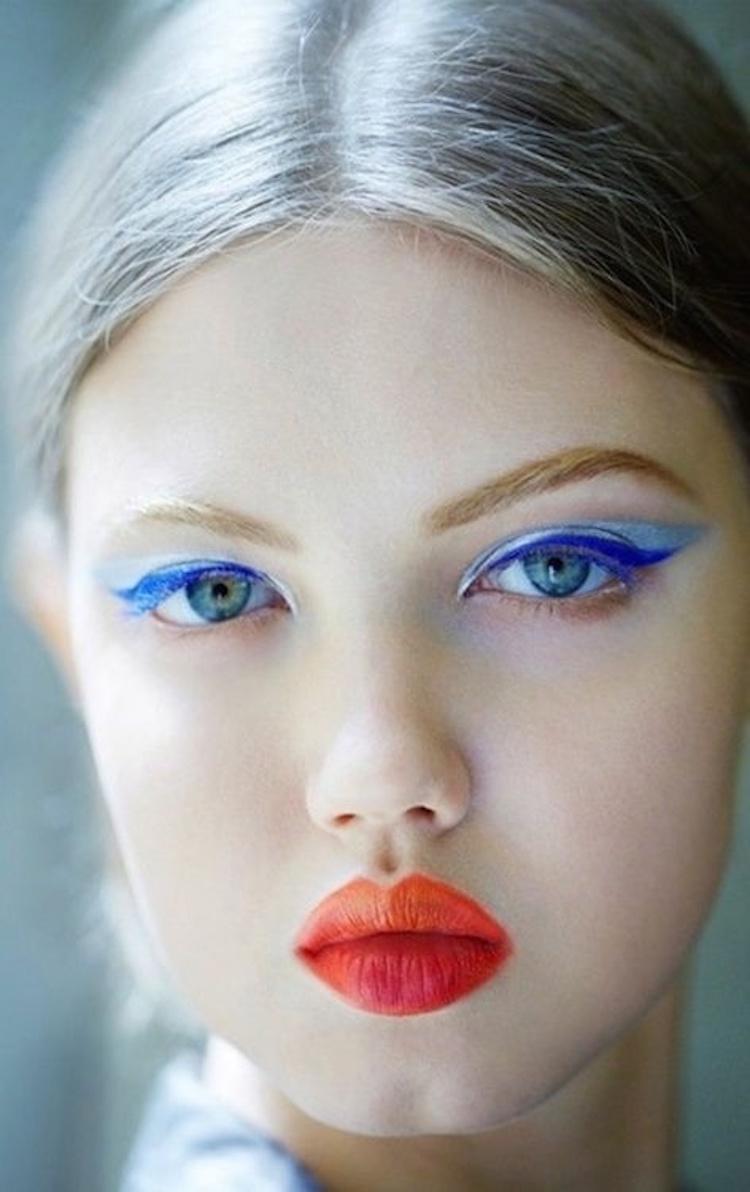 niebieskie oko czerwne usta tumblr