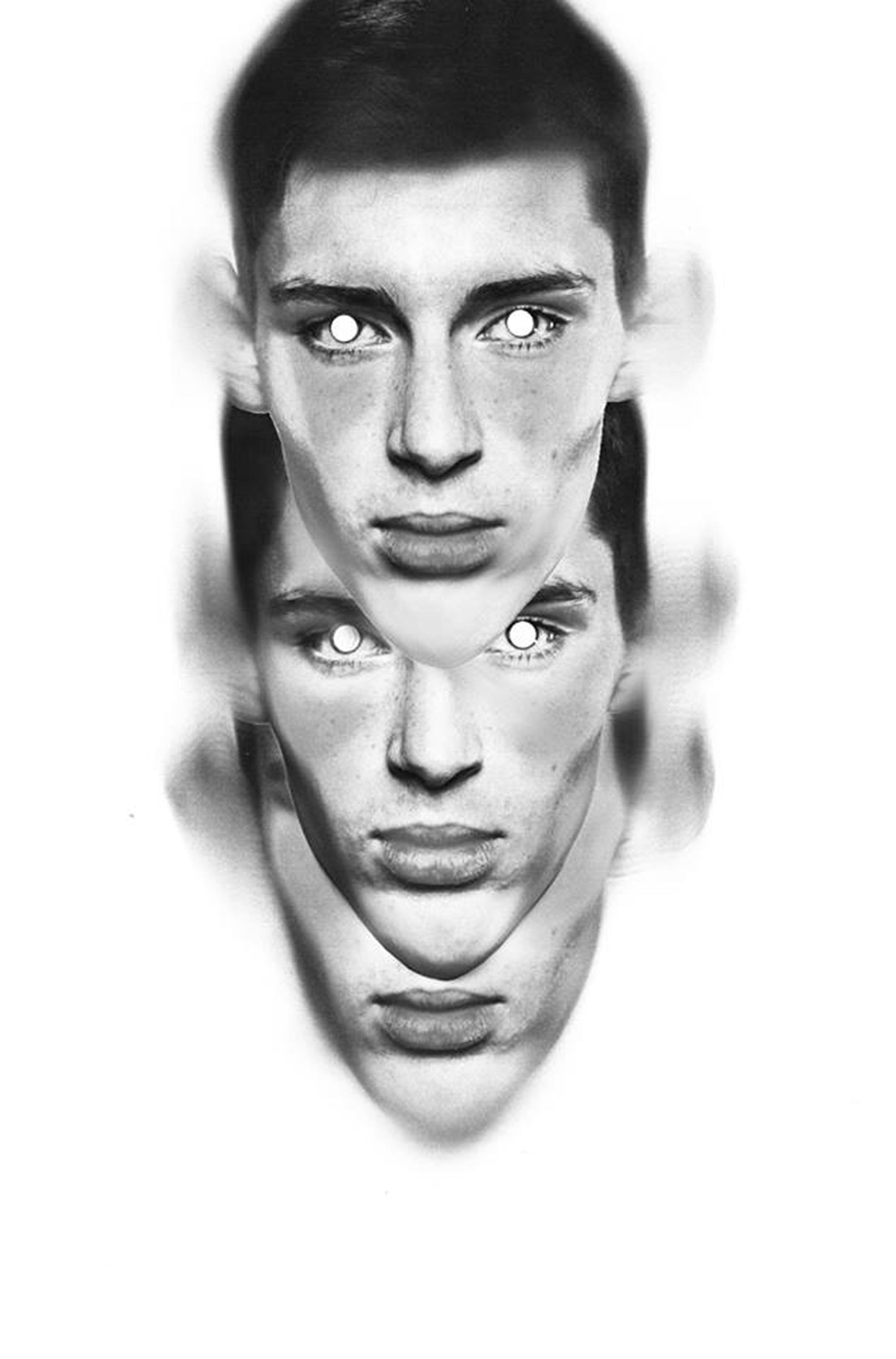 kolaz z trzech twarzy męskich