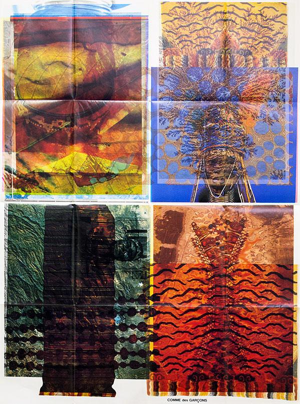 cztery kolorowe abstrakcyjne obrazki