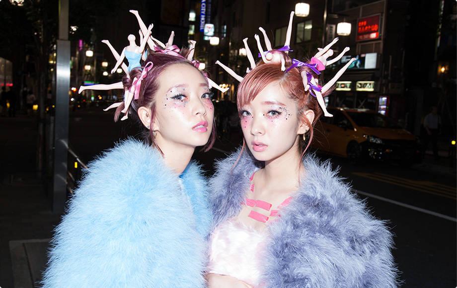 Przykład mody w Harajuku