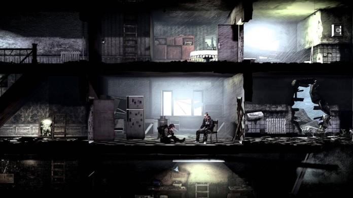 dwa ciemne piętra w kamienicy