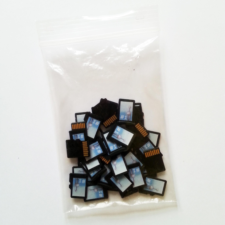 torebka z kartami microSD