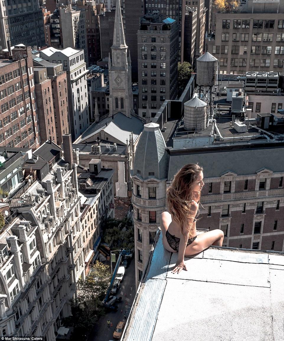 modelka na dachu 4