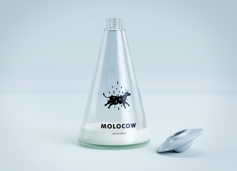 resztka mleka w butelkce odkręconej