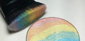 kolorowa tęczowa paletka rozjaśniacza
