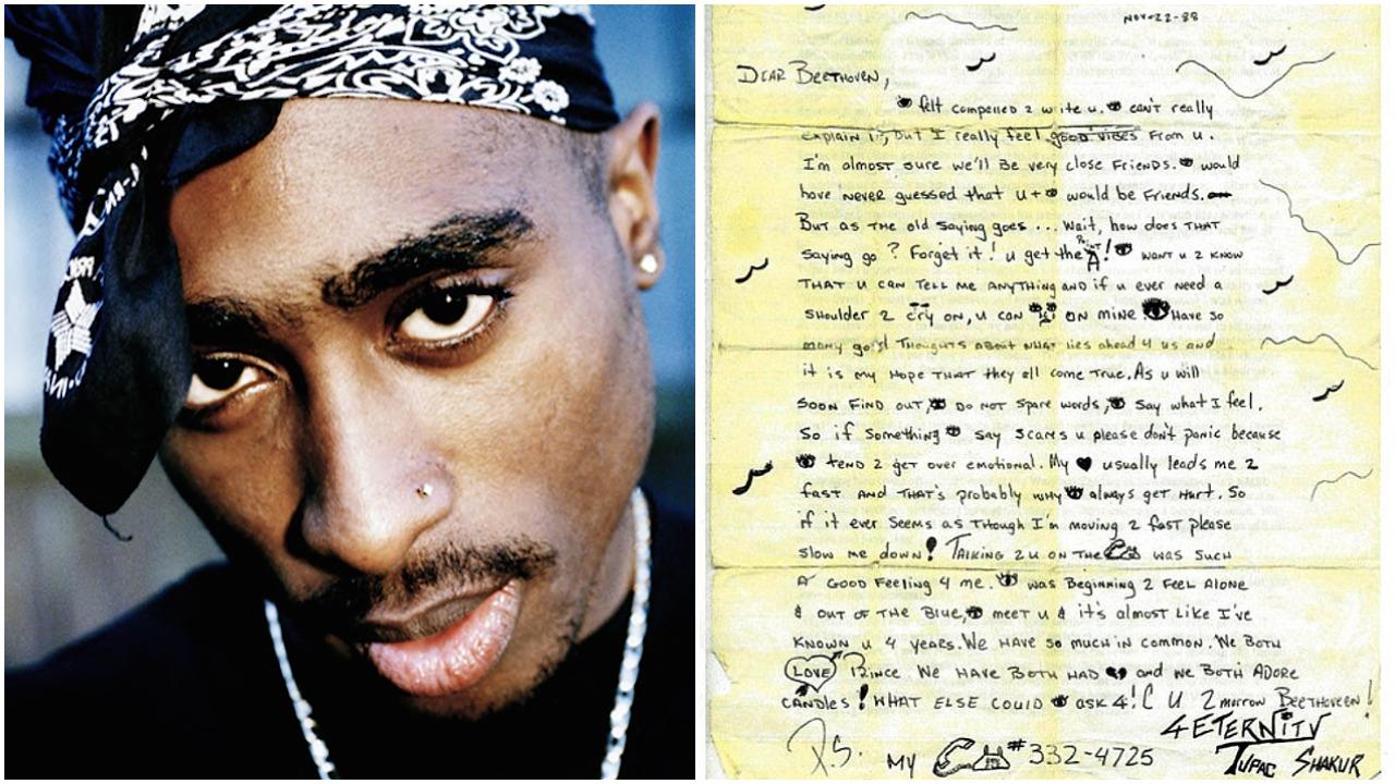 Zdjęcie młodego czarnoskórego mężczyzny w bandamce na głowie oraz odręcznie napisany list