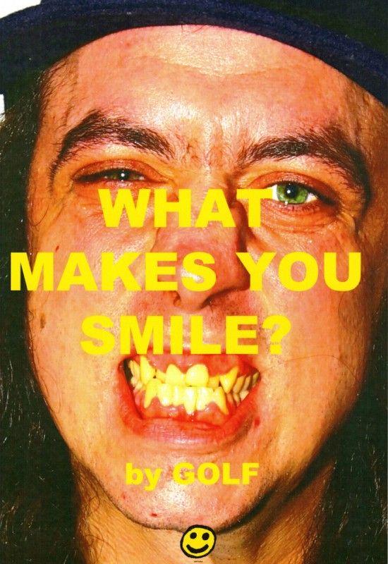plakat kampanii mężczyzna z żółtymi zębami