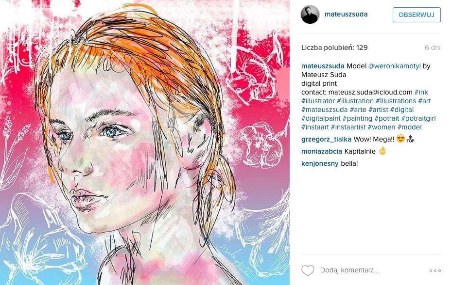 ilustracja modowa blondynka