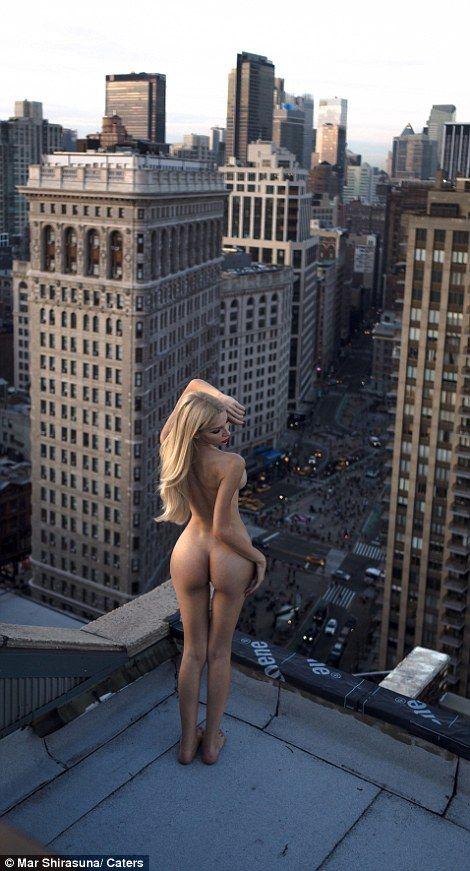 modelka na dachu 6