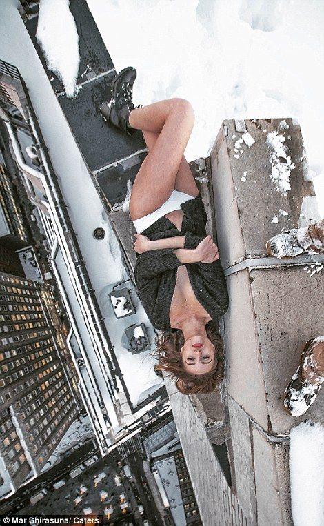 modelka na dachu 9