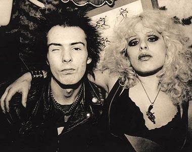 groupie Nancy Spungen z członkiem Sex Pistols Sidem Viciousem