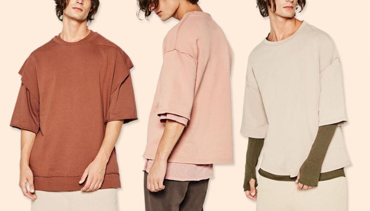 trzech mężczyzn w bluzach z krótkim rękawem