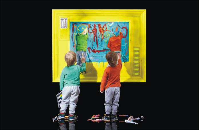 plakat wernisazu wystawy Wojtka Brewki