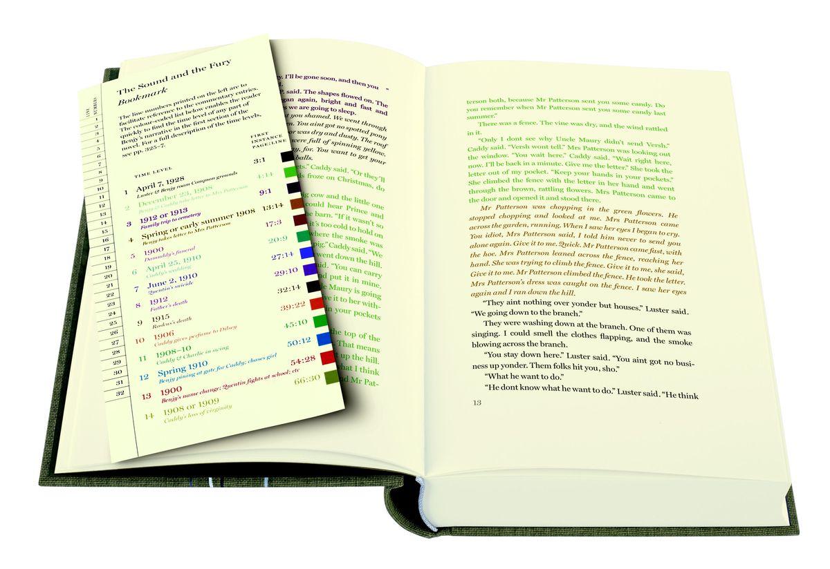 faulkner z kolorowym podzialem wierszy