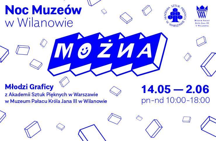 niebieski plakat wystawy