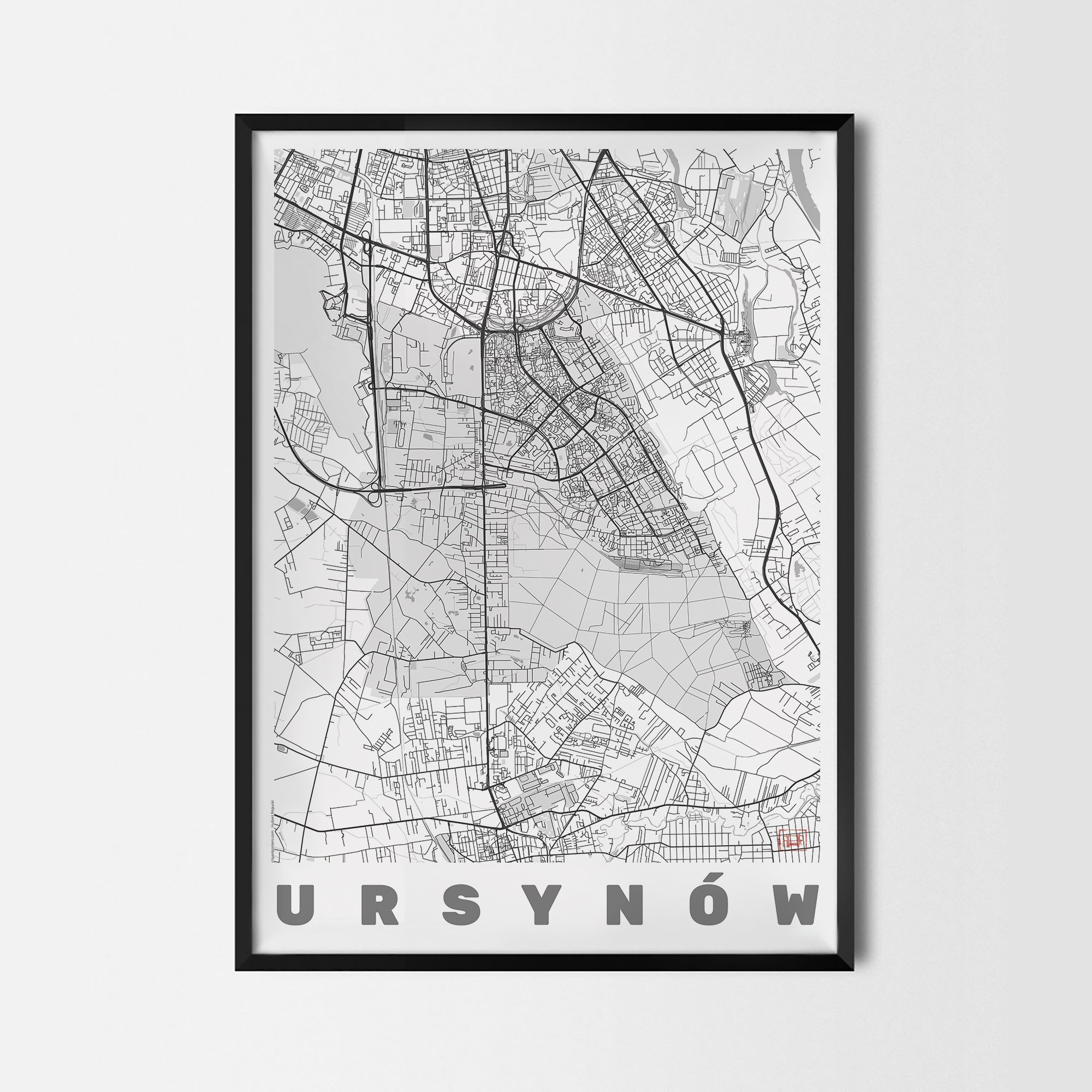 Plakat dzielnicy Warszawy Ursynów