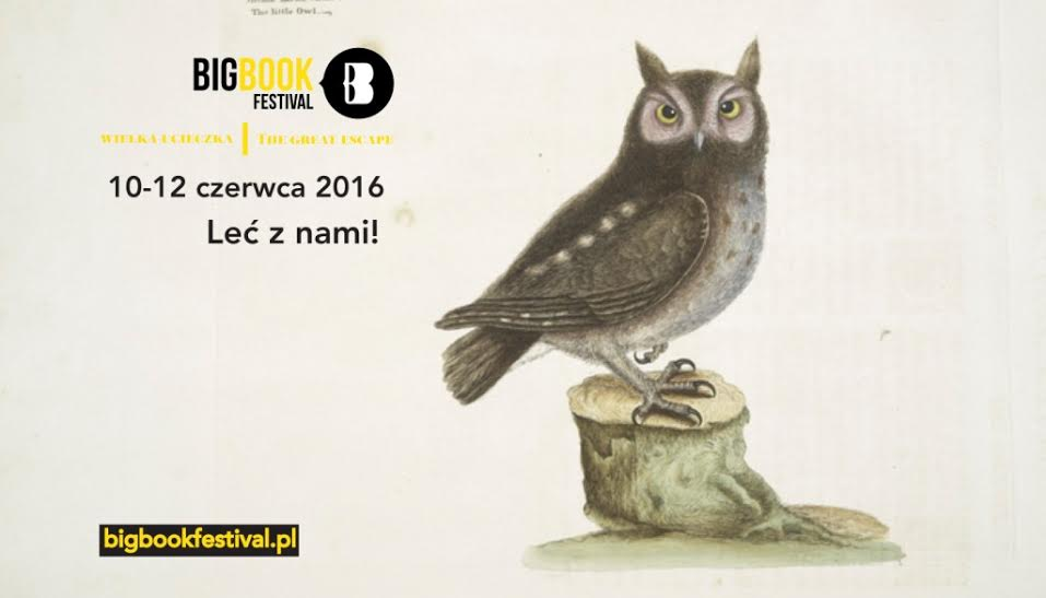 Plakat Big Book Festival z sową
