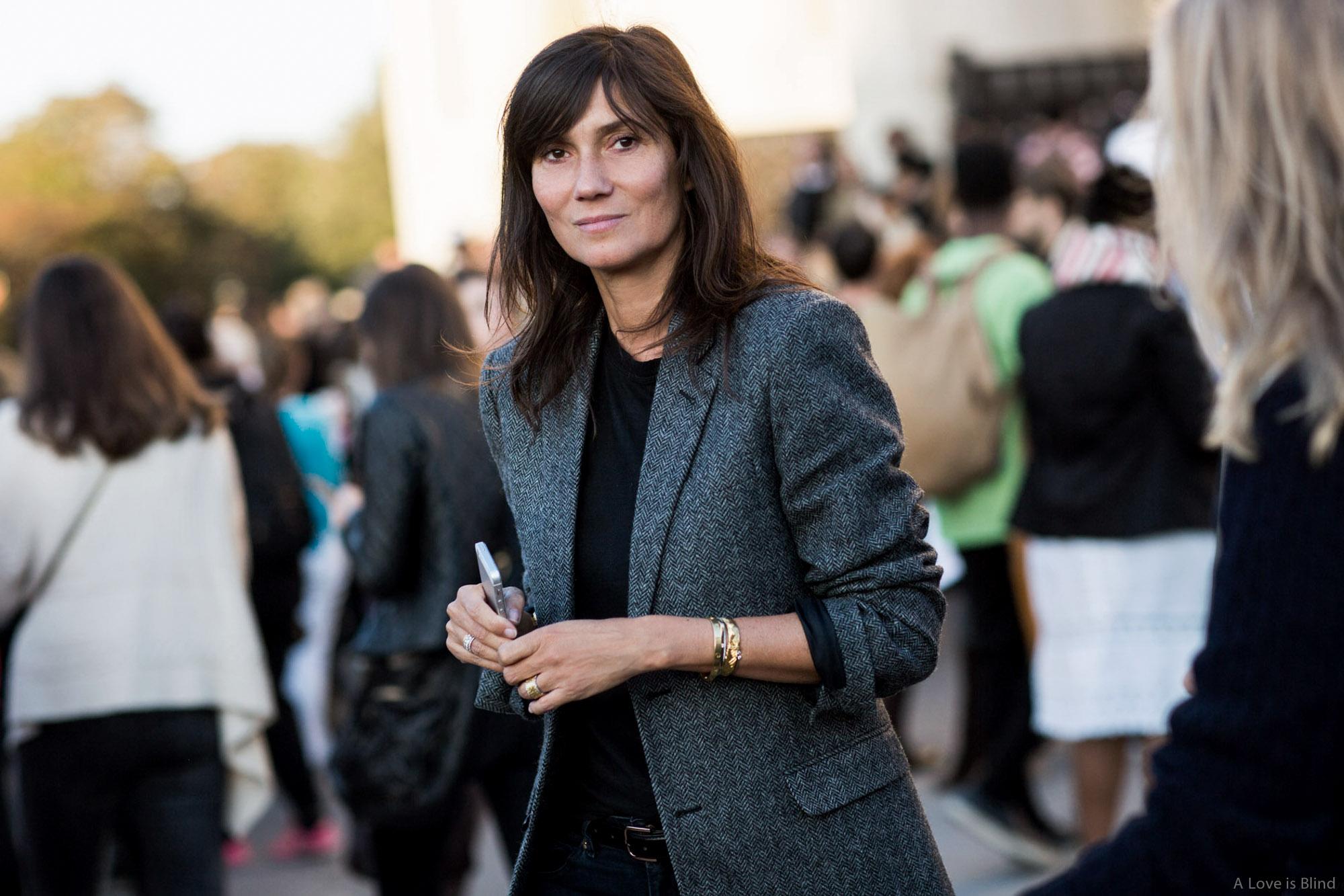 Emmanuelle Alt w czasie paryskiego tygodnia mody
