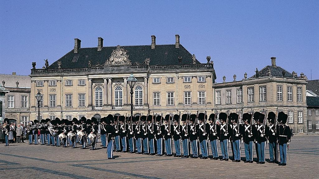 Budynek Amalienborg w Kopenhadze
