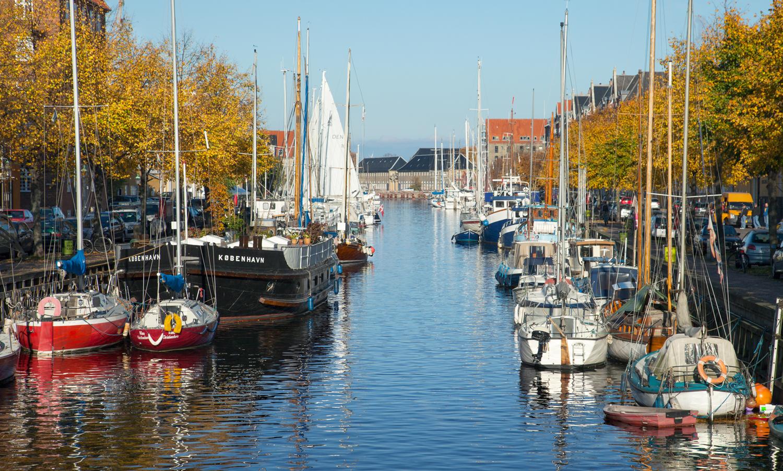 łódki w Christianshavn w Kopenhadze