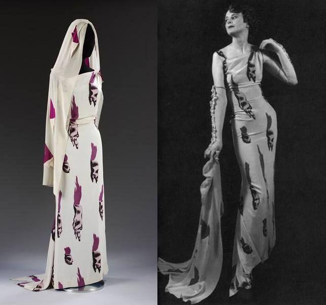 długa suknia z welonem w print łez