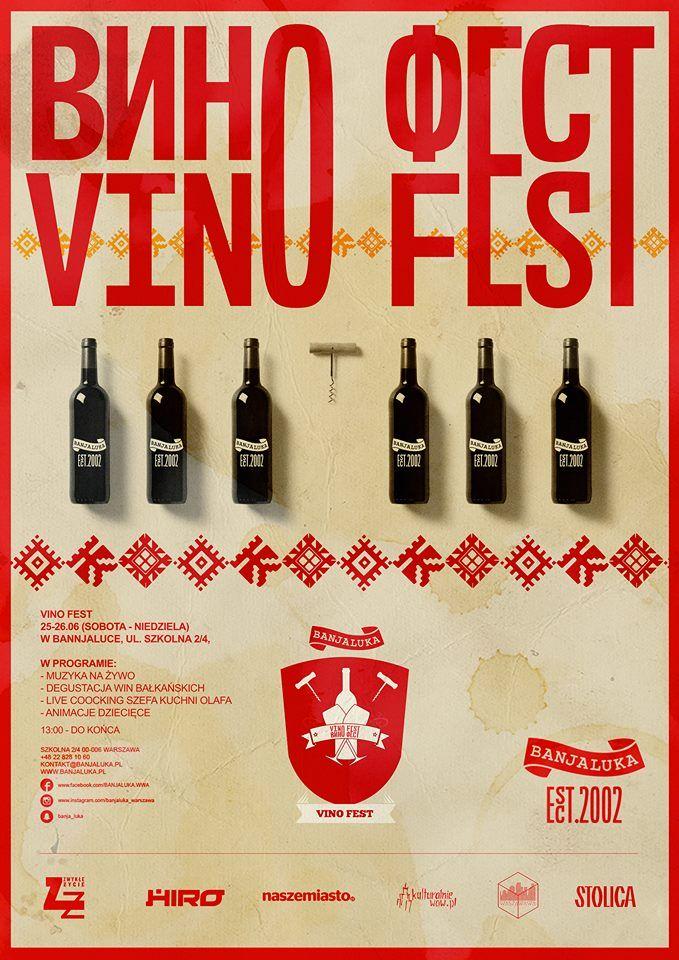 Plakat wydarzenia Vino Fest w Banjaluce