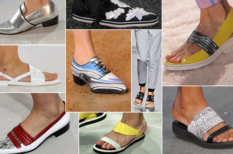 Kolorowe brzydkie buty